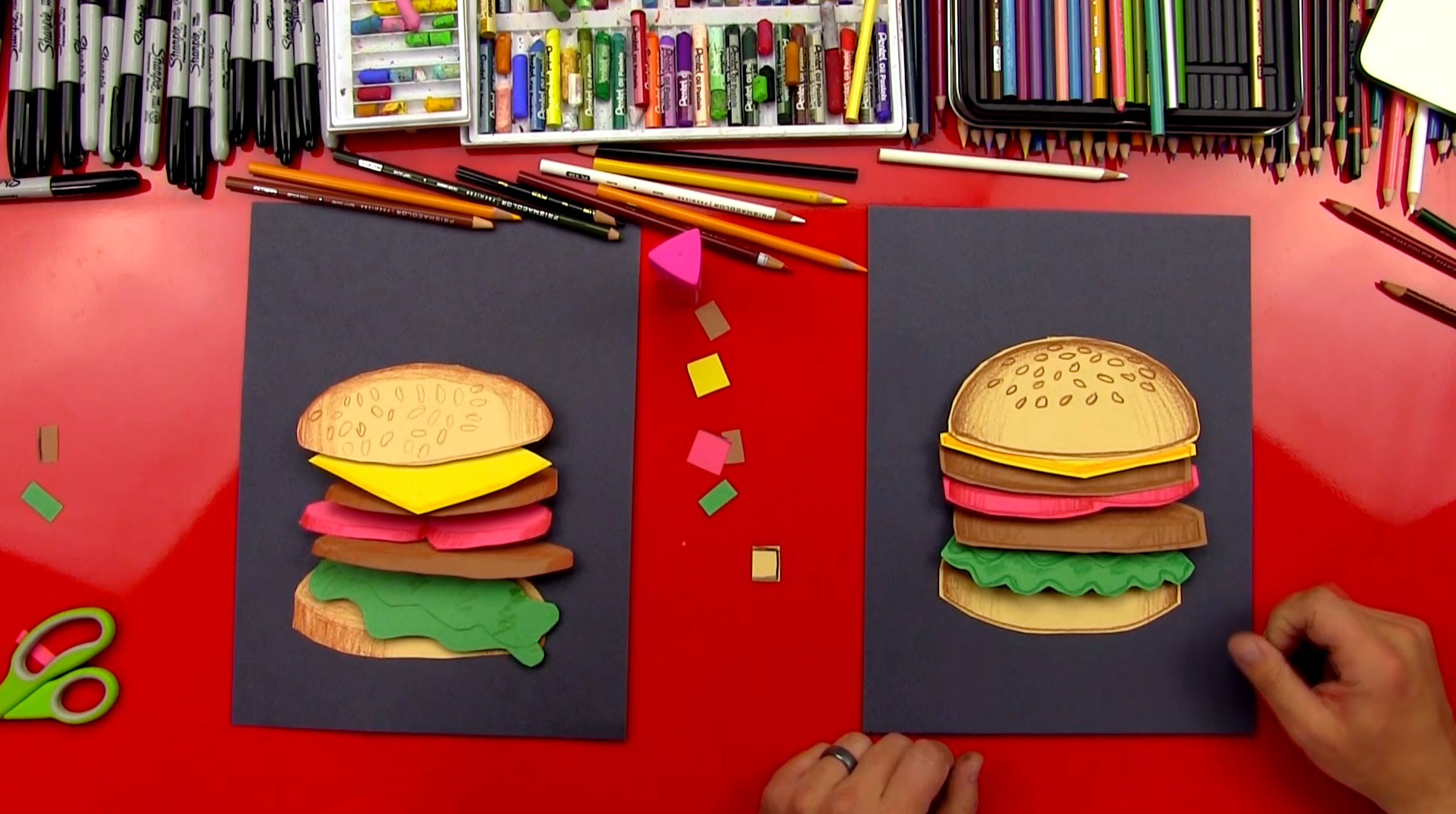 How To Make A Hamburger Cutout Art For Kids Hub