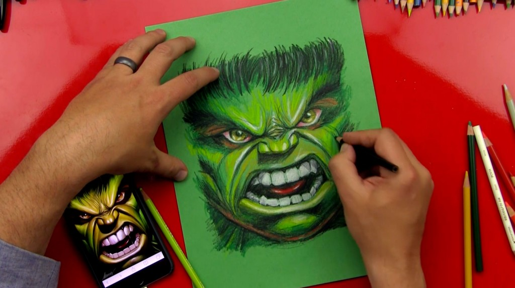 The Hulk Speed Drawing