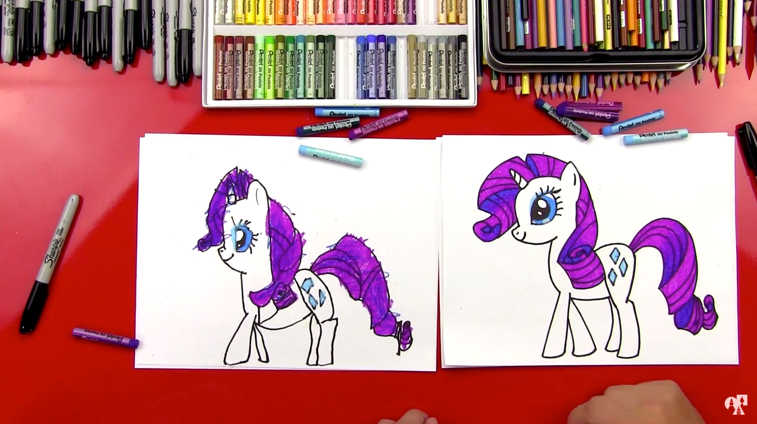 How To Draw Rarity My Little Pony Art For Kids Hub