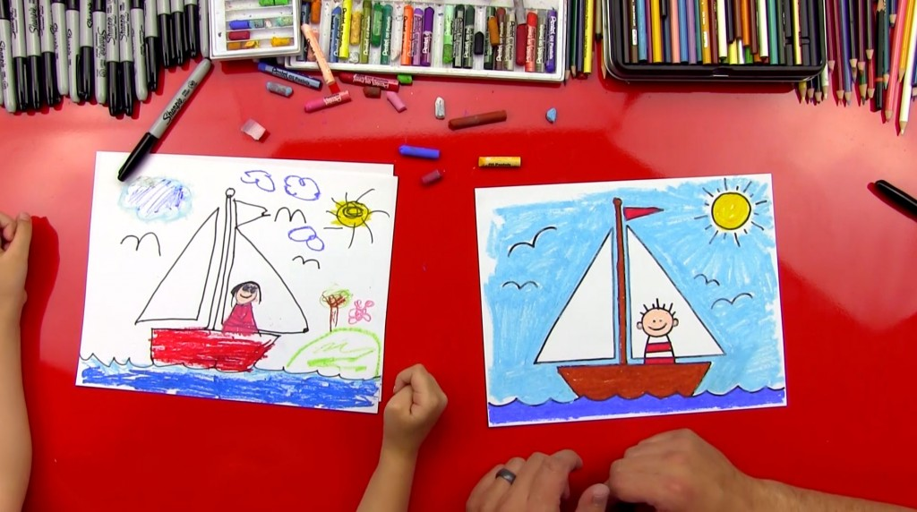 How To Draw A Sailboat (for young artists)