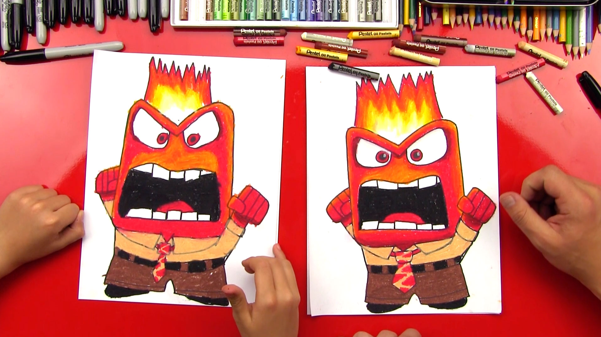 How To Draw Anger From Inside Out - Art For Kids Hub -