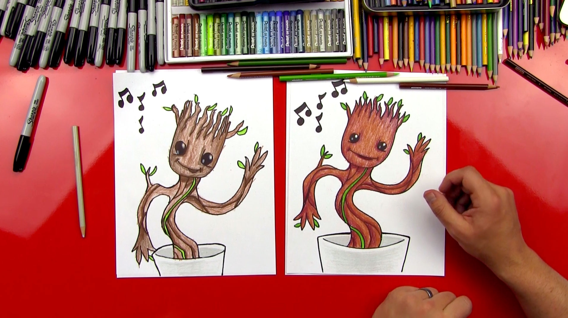 How To Draw Baby Groot Art For Kids Hub