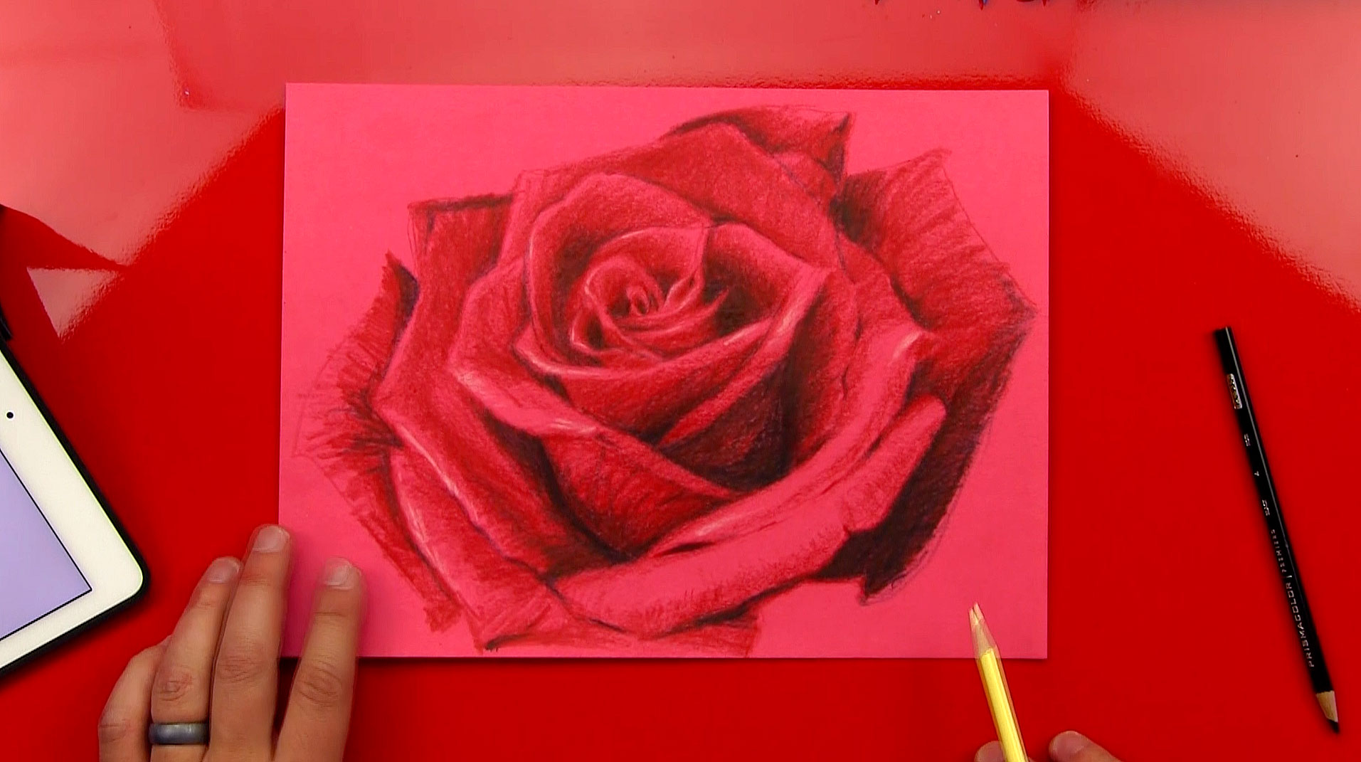 how to draw a rose art for kids hub