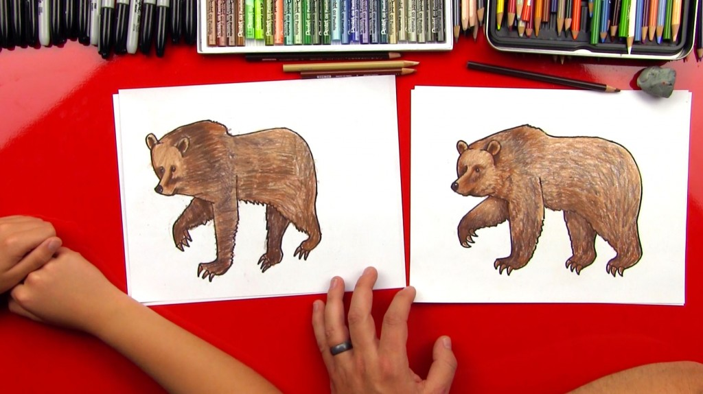 How To Draw A Grizzly Bear (realistic)
