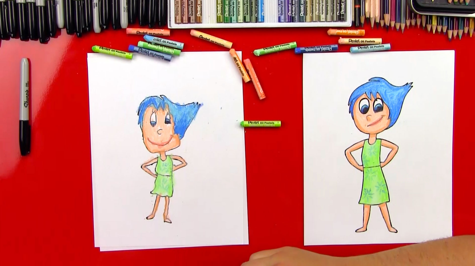 How To Draw Joy From Inside Out Art For Kids Hub