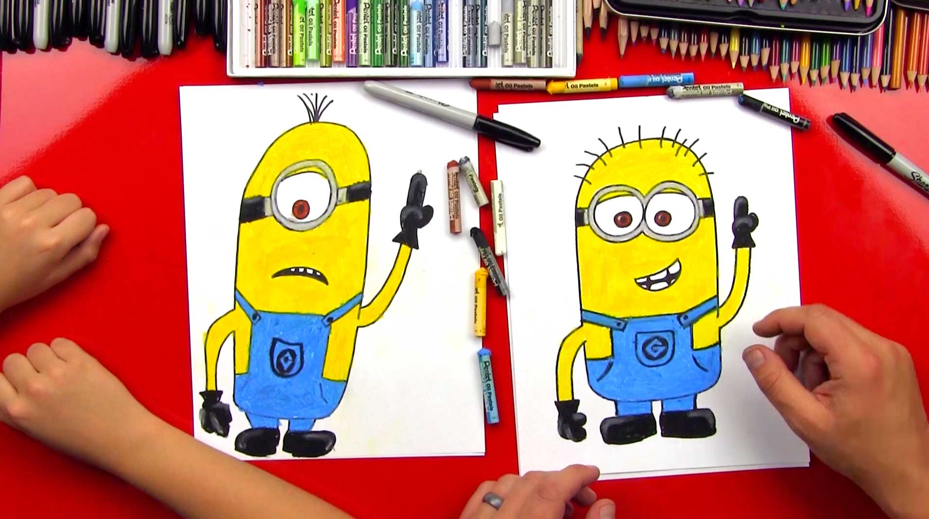 Image result for kids minions drawing