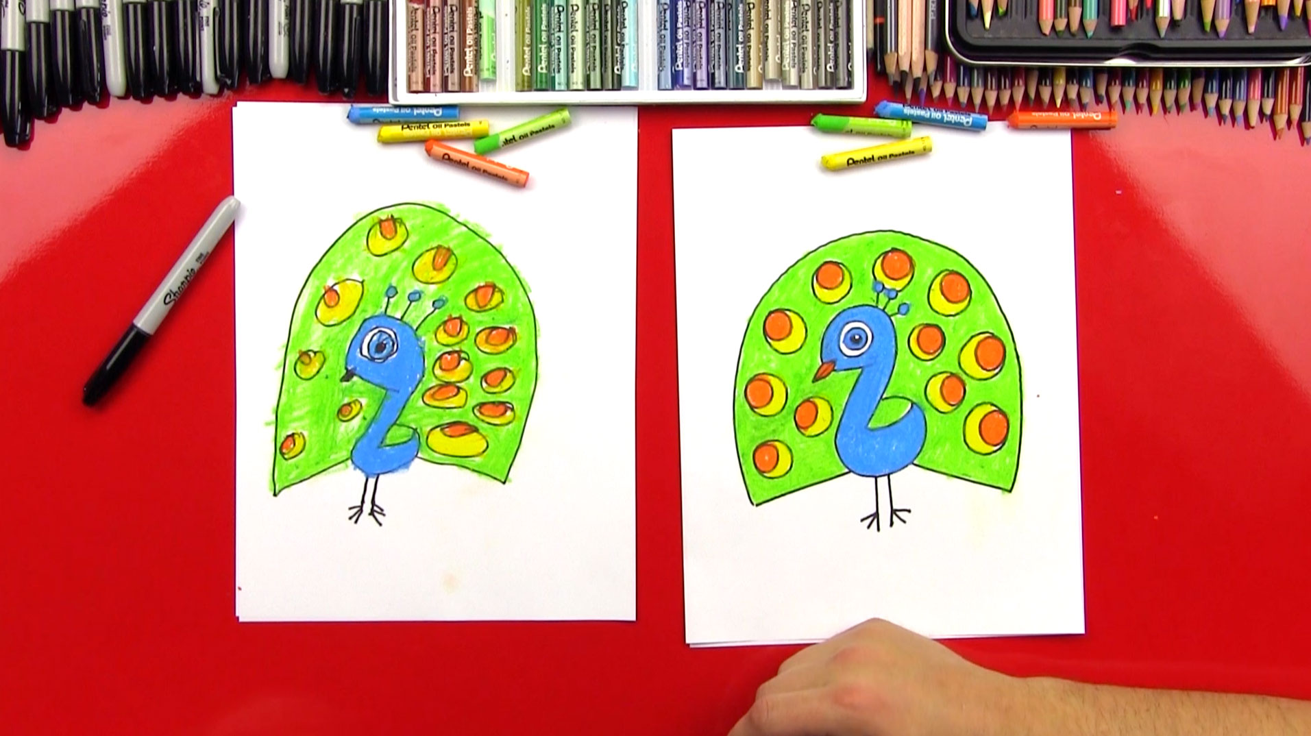 how to draw a cartoon peacock for young artists to draw a cartoon peacock for young artists