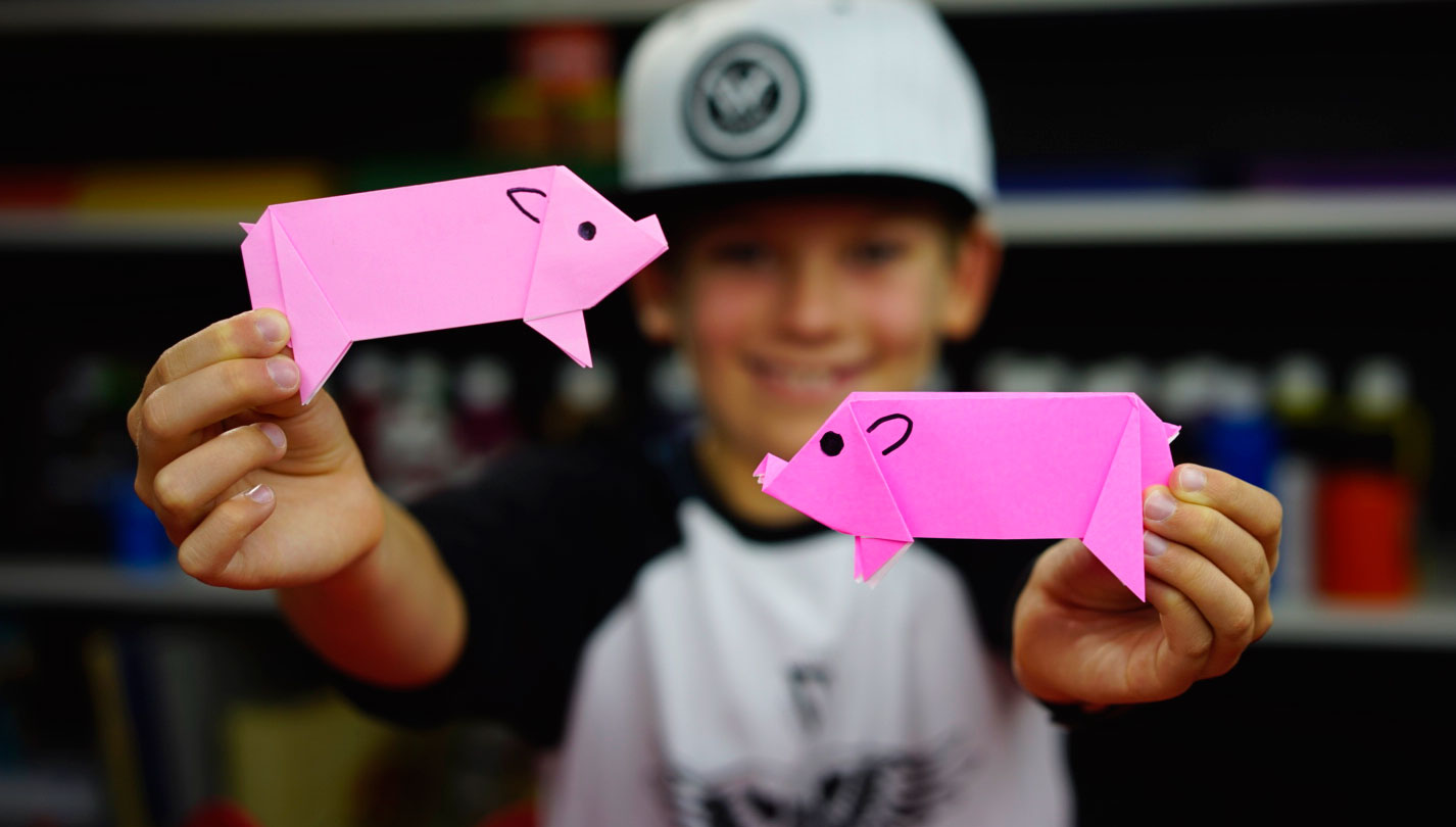 How To Fold An Origami Pig - Art For Kids Hub - photo#15