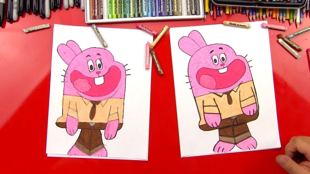 How To Draw Richard Watterson From The Amazing World of Gumball