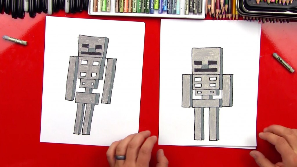 How To Draw A Minecraft Skeleton