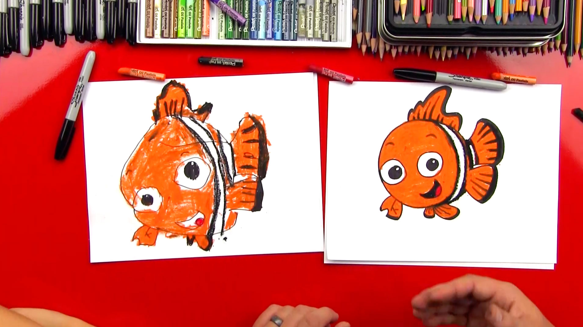How To Draw Nemo - Art For Kids Hub -