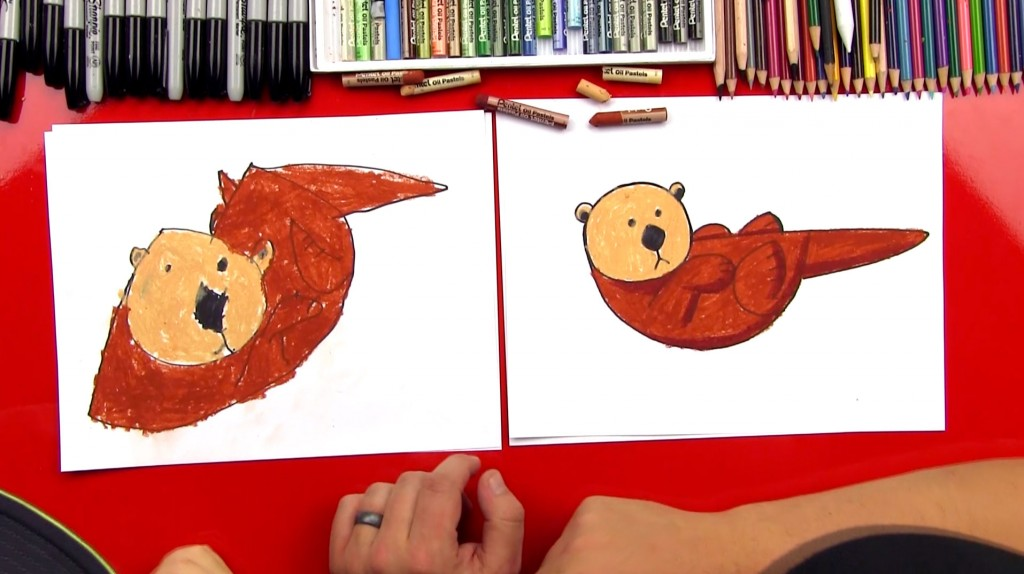 How To Draw An Otter With Shapes