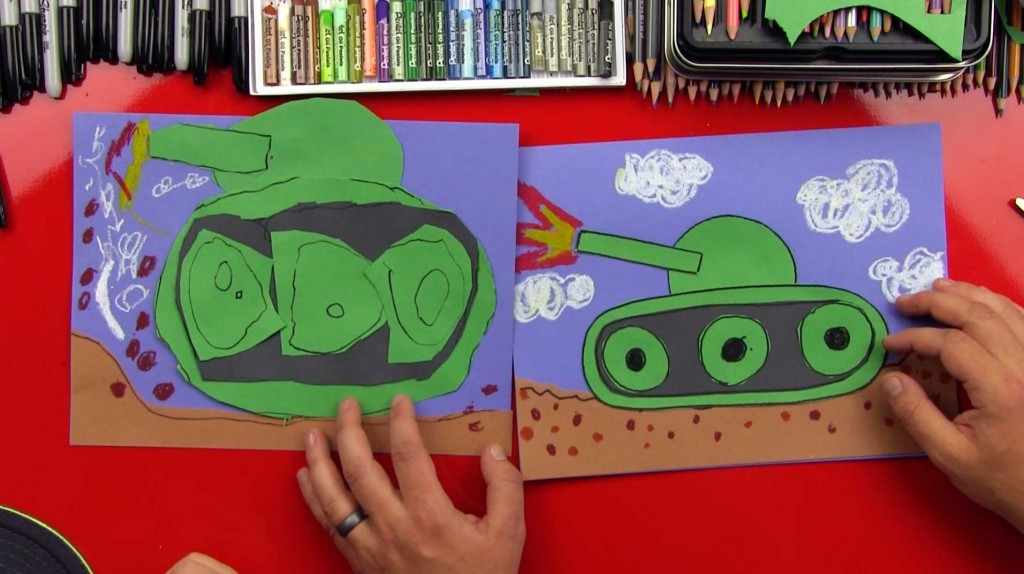 How To Draw A Tank For Young Artists