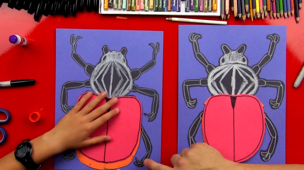 How To Draw A Goliath Beetle – Construction Paper Cutout