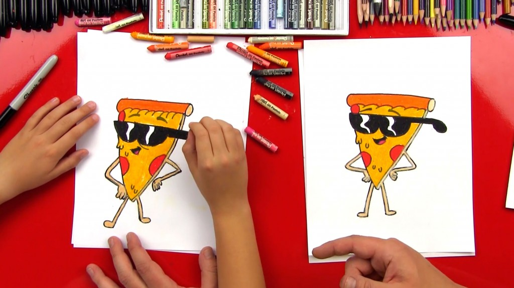 How To Draw Pizza Steve
