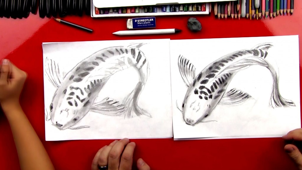 Advanced: Step By Step How To Sketch A Koi Fish