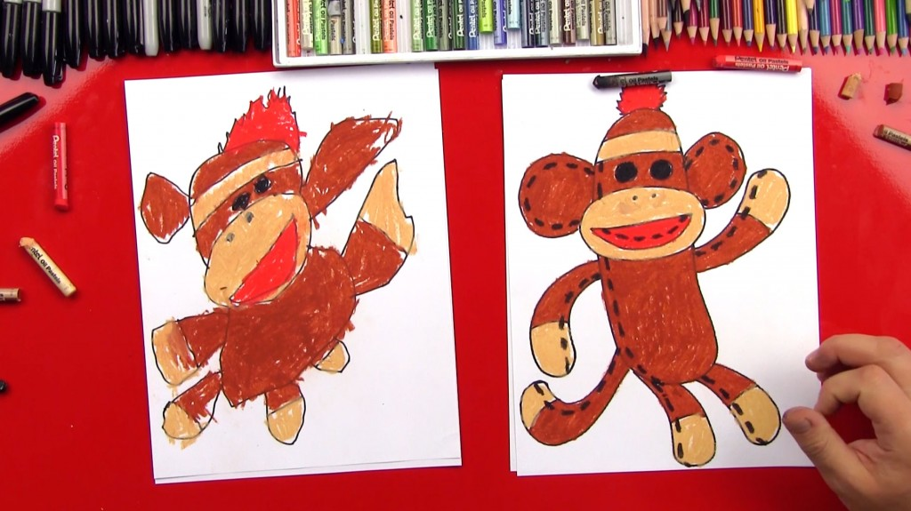 How To Draw A Sock Monkey
