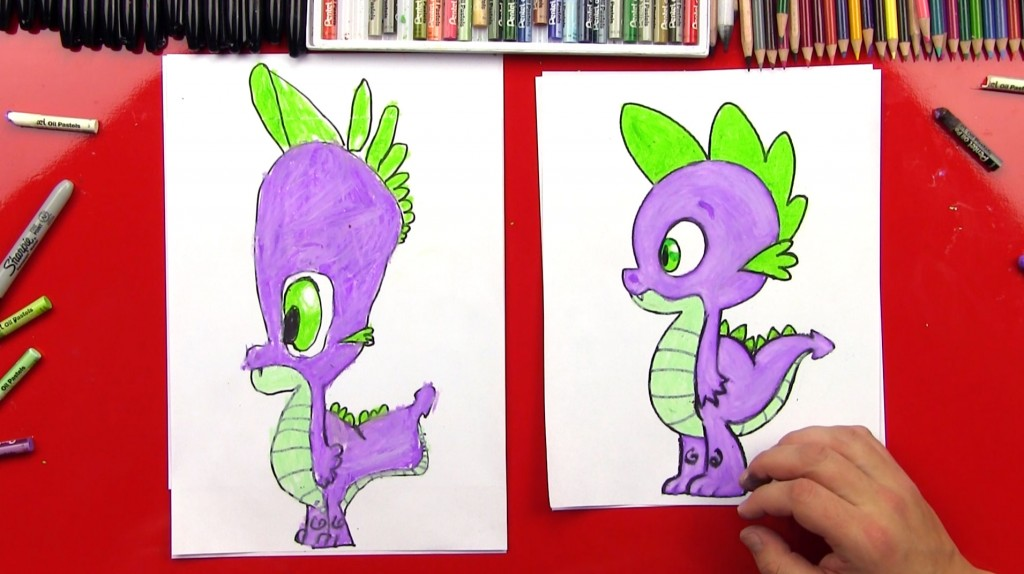 How To Draw Spike From My Little Pony