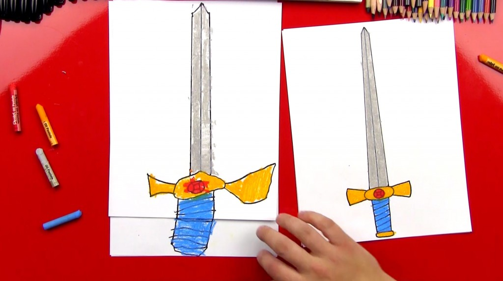 How To Draw A Sword With A Ruler