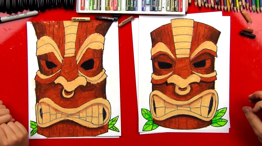 How To Draw A Tiki Statue