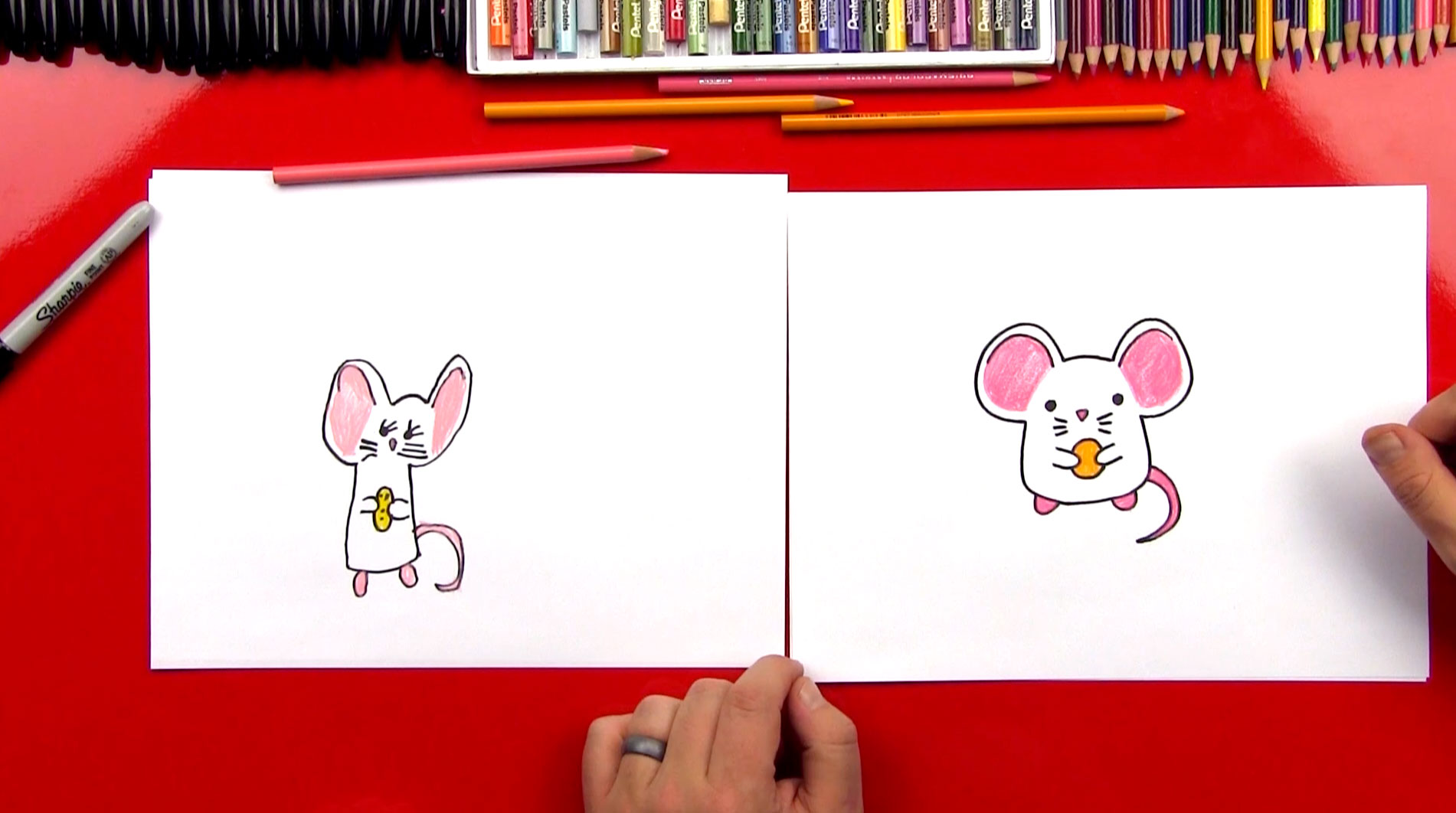 How to draw a cartoon mouse art for kids hub for How to draw with a mouse