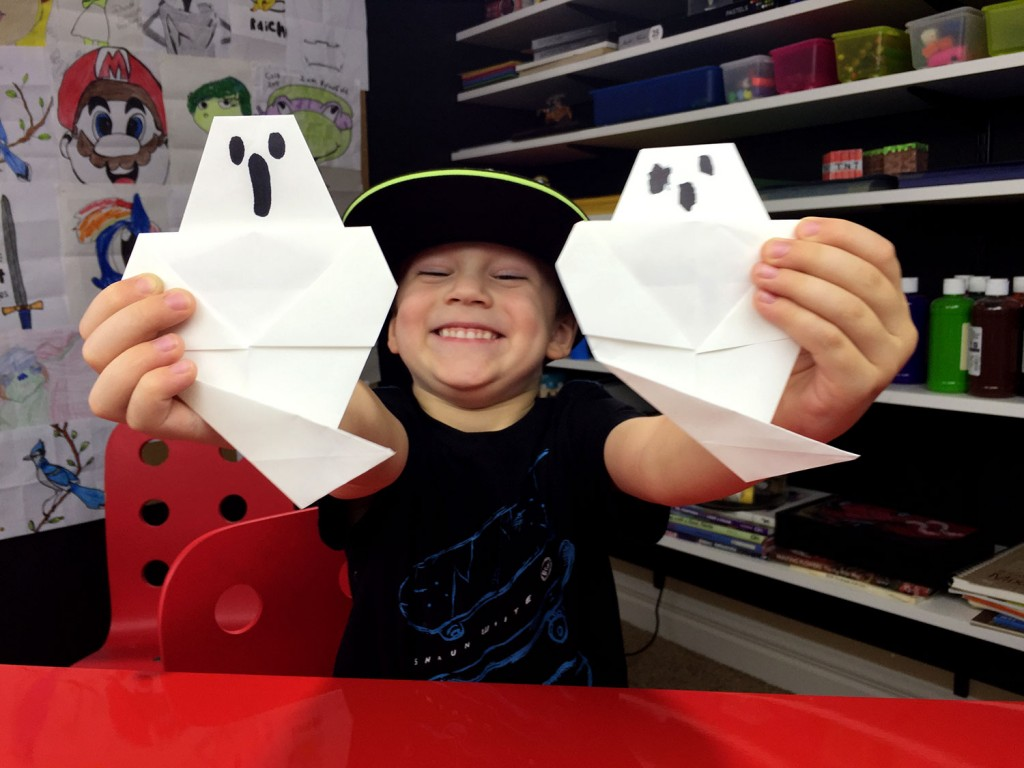 How To Fold An Origami Ghost (Easy)