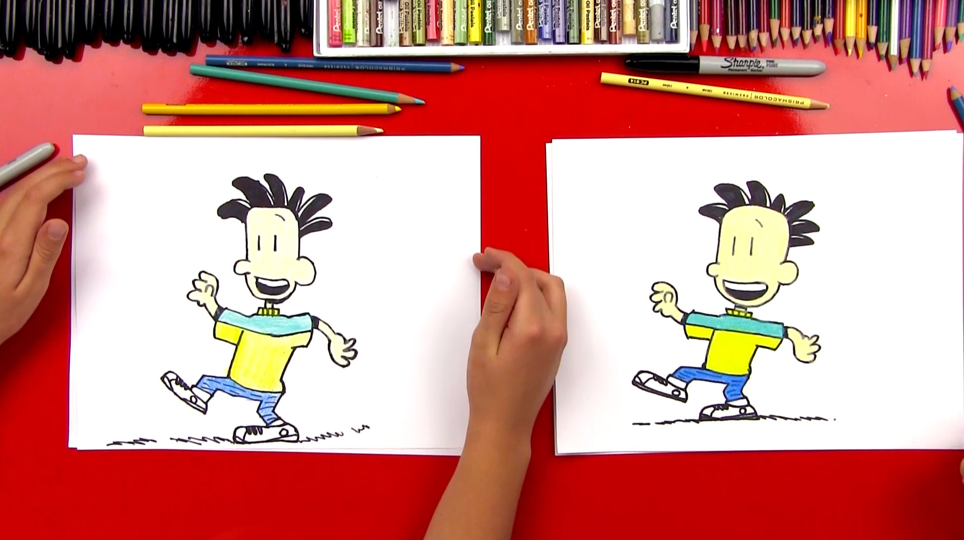 how to draw big nate art for kids hub