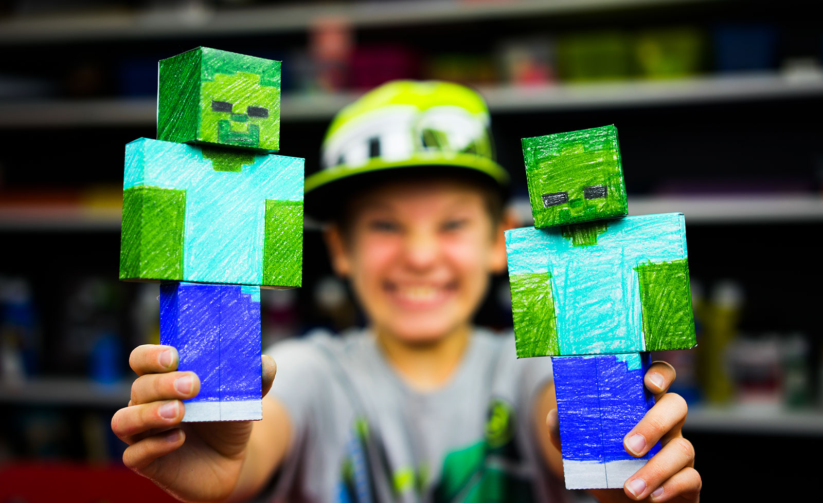 How To Make A Minecraft Zombie Art For Kids Hub