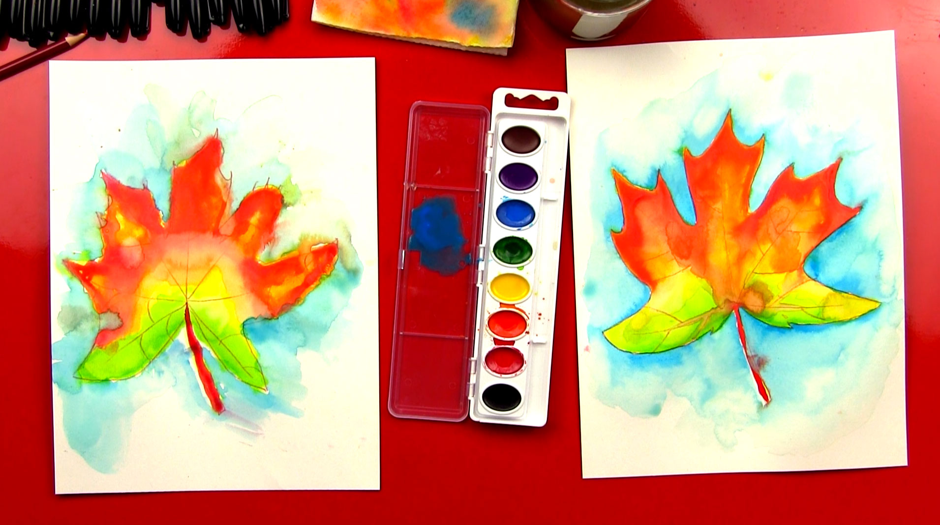how to paint with watercolor for kids - Picture Painting For Kids