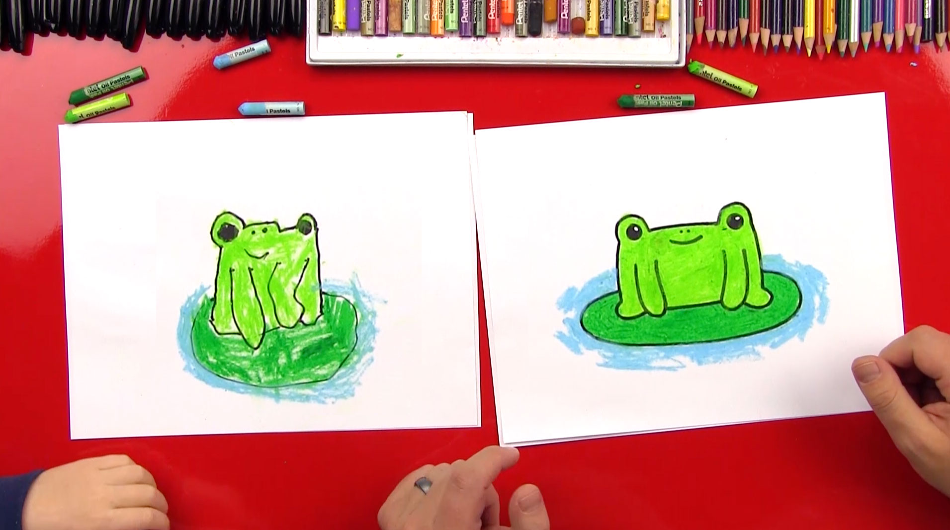 How To Draw A Cartoon Frog Art For Kids Hub