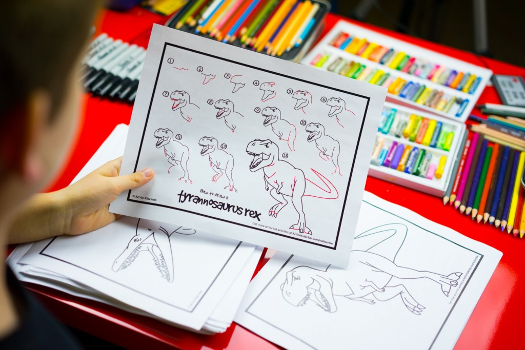 How To Draw 50 Dinosaurs – Free eBook!