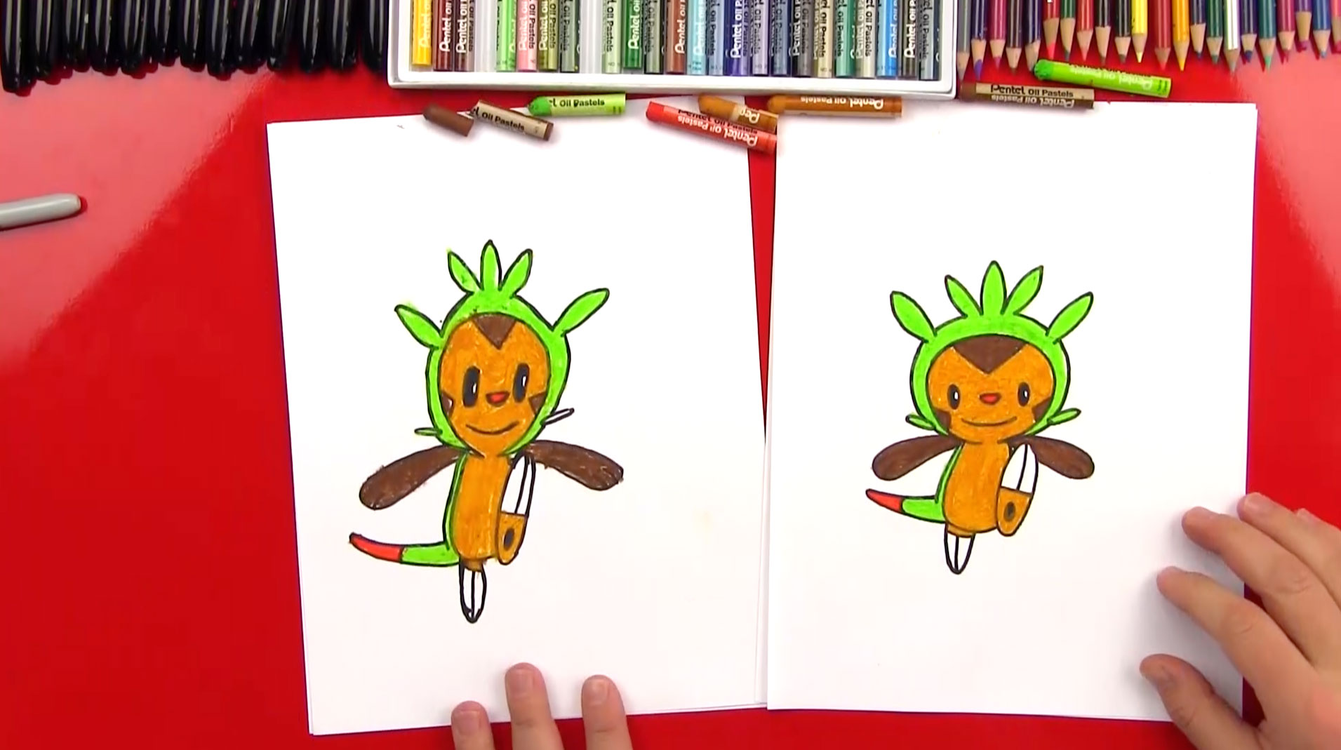 How to draw chespin from pokemon art for kids hub altavistaventures Choice Image