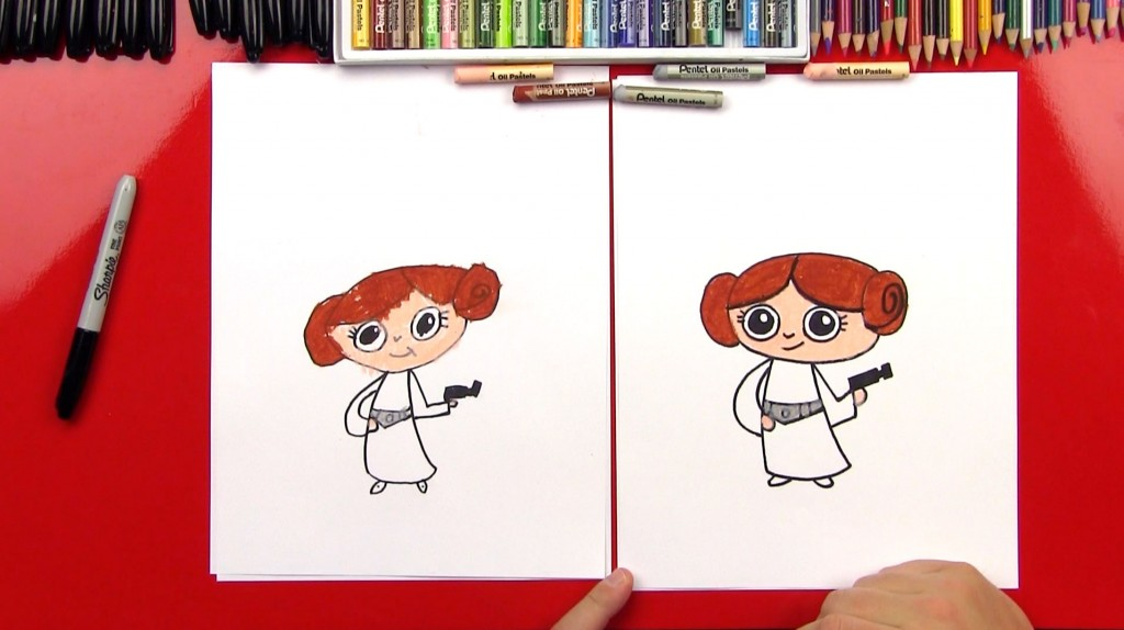 How To Draw Cartoon Princess Leia