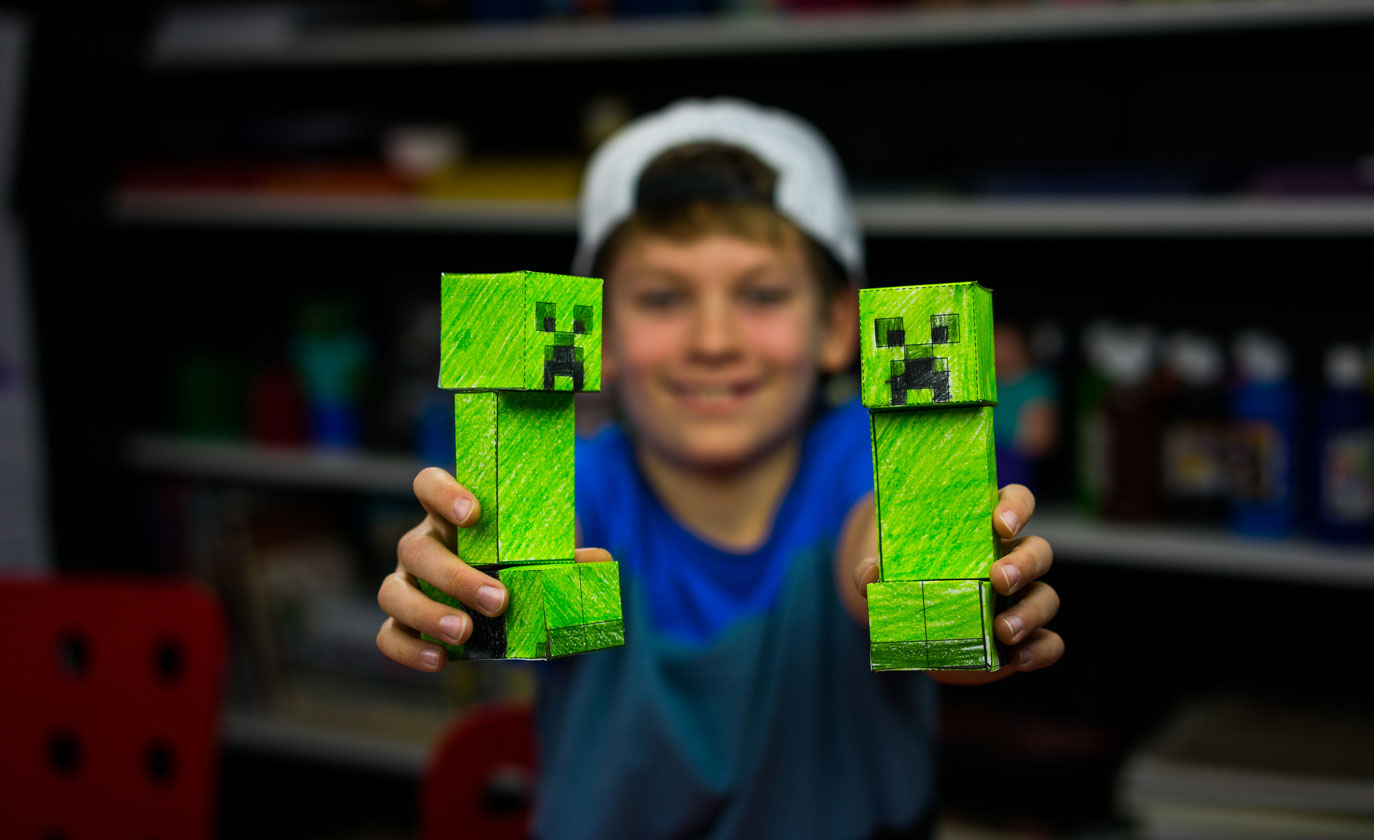 How To Make A Papercraft Creeper From Minecraft Art For