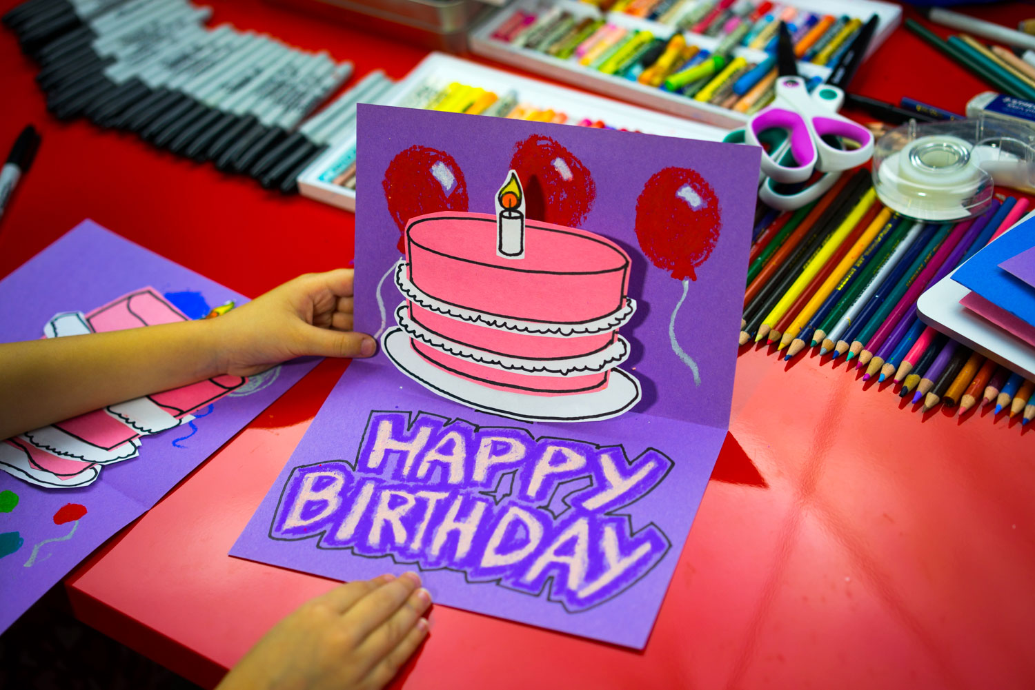 How To Make A Pop Up Birthday Card Art For Kids Hub
