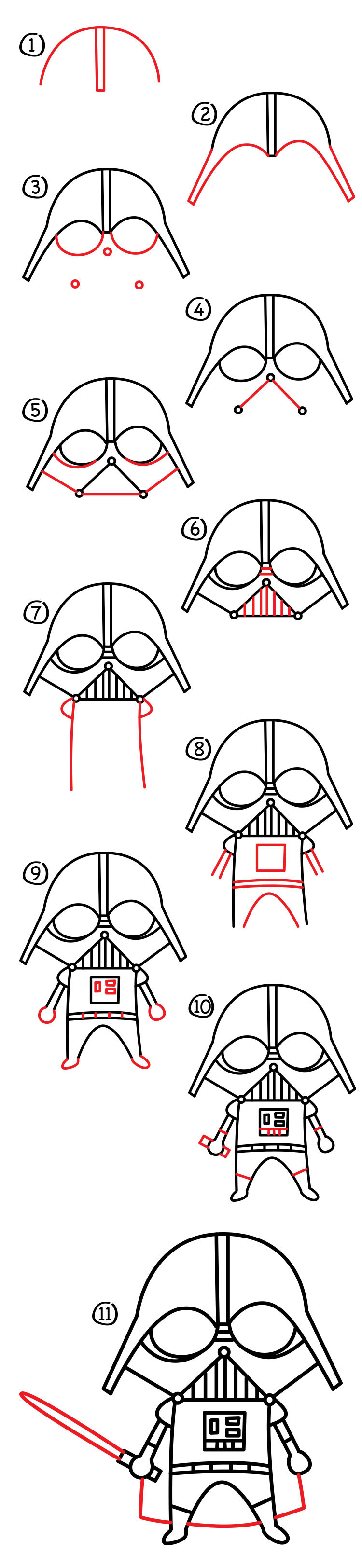 How To Draw A Cartoon Darth Vader - Art For Kids Hub