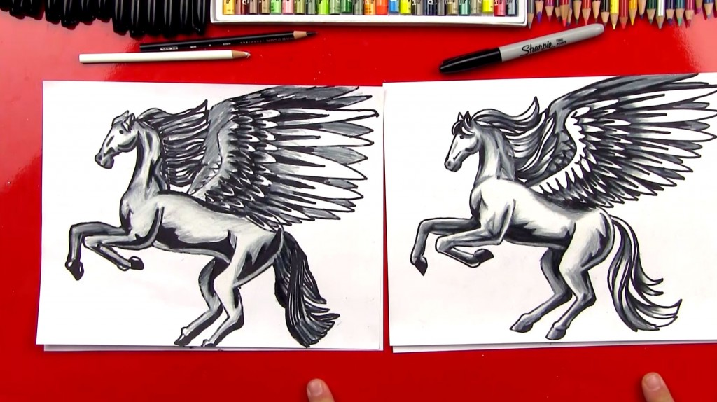 How To Color A Realistic Horse and Pegasus (Part 3)