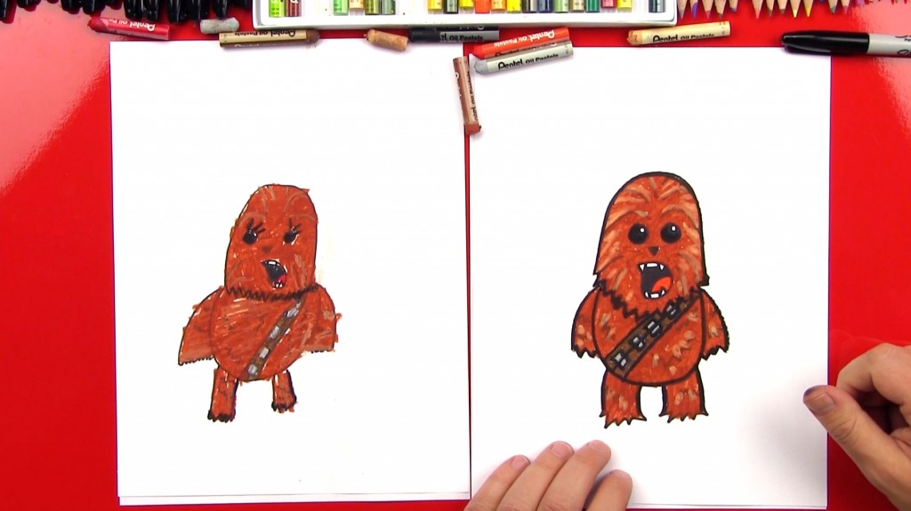 How To Draw A Cartoon Chewbacca