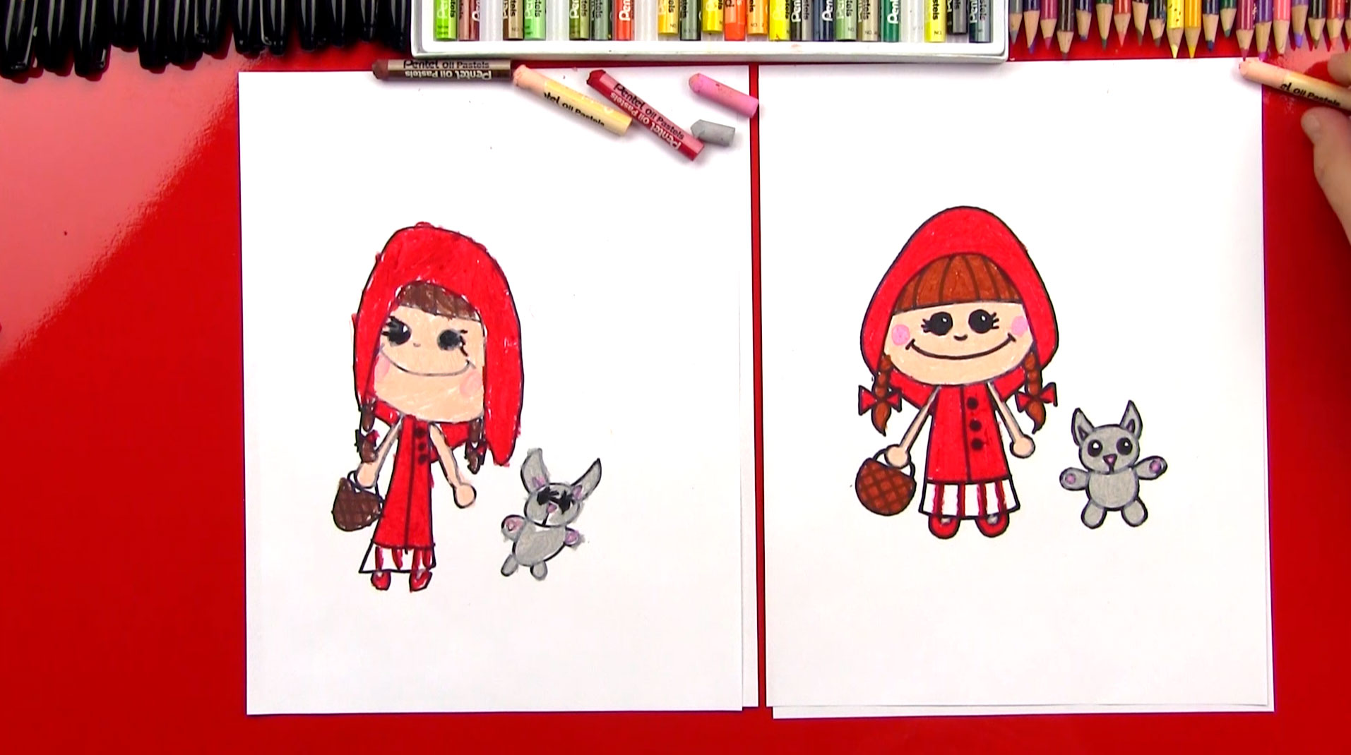 How To Draw Little Red Riding Hood