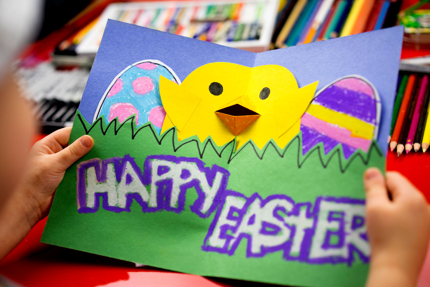 How To Make A Pop Up Easter Card Art For Kids Hub – Easter Cards for Children