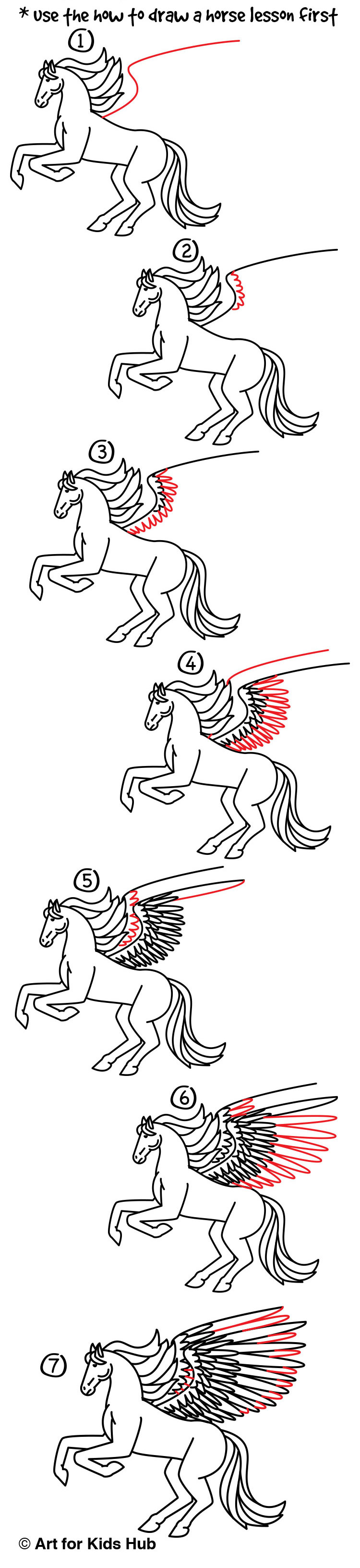 How To Draw A Realistic Pegasus Part 2 Art For Kids Hub