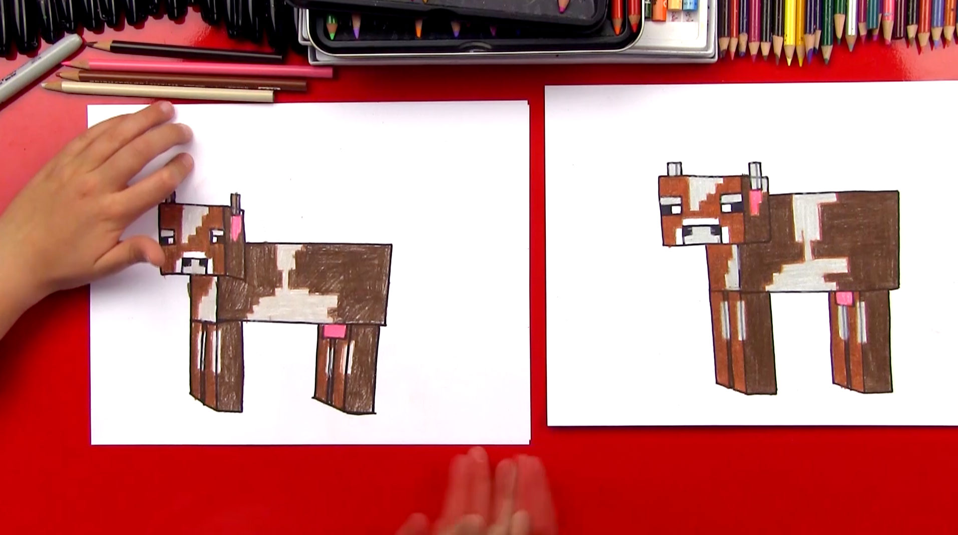 How To Draw A Minecraft Cow - Art For Kids Hub -