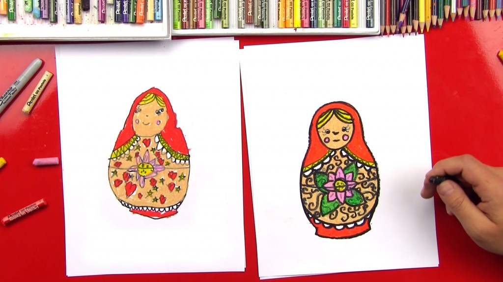 How To Draw A Russian Nesting Doll