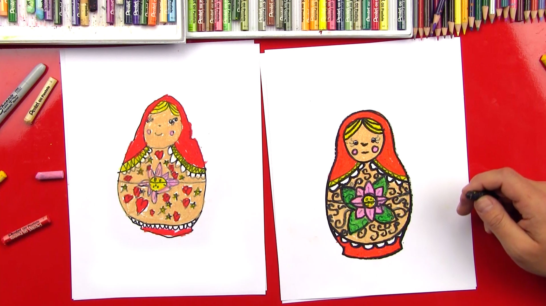 How To Draw A Russian Nesting Doll Art For Kids Hub