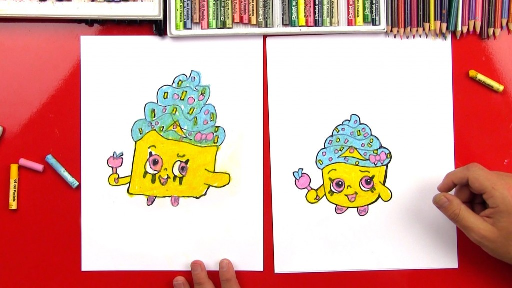 How To Draw A Shopkins – Cupcake Queen