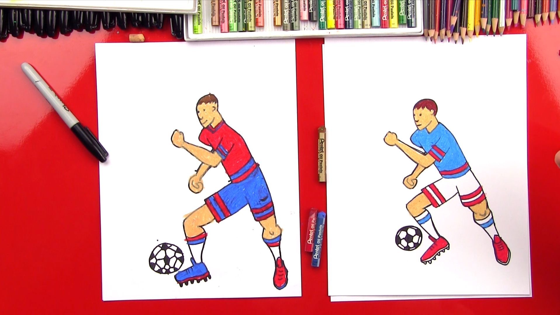 How To Draw A Realistic Soccer Player - Art For Kids Hub -