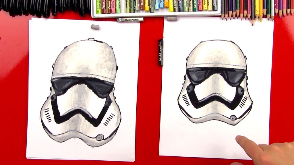 How To Draw A First Order Storm Trooper Helmet