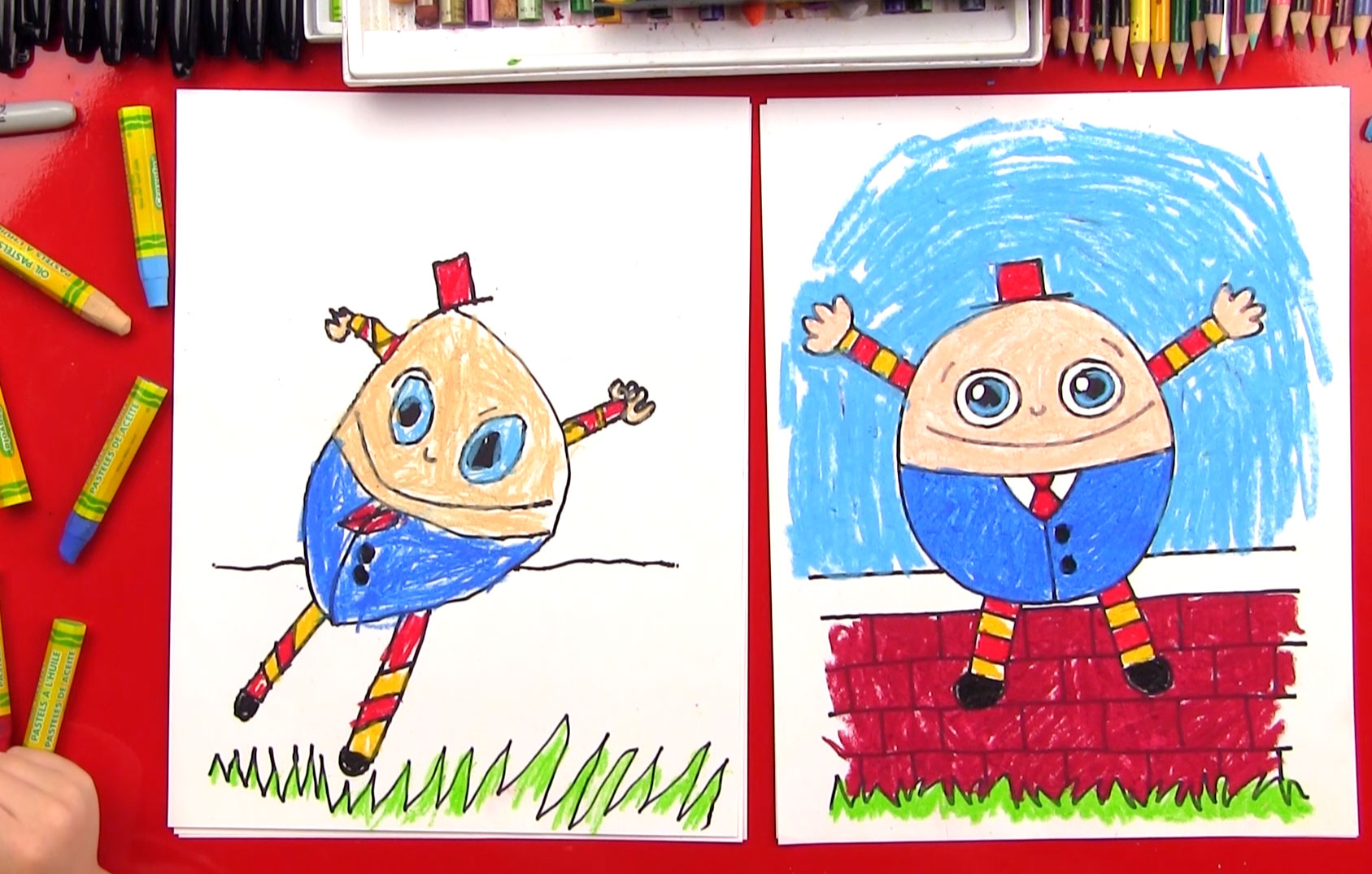 How To Draw Humpty Dumpty