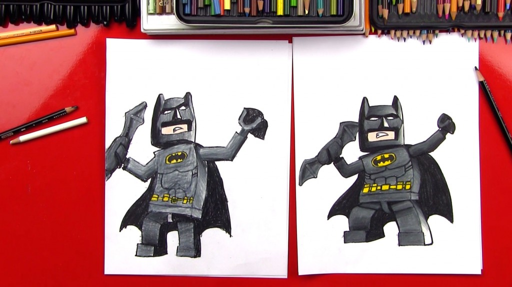 How To Draw Lego Batman + SYA