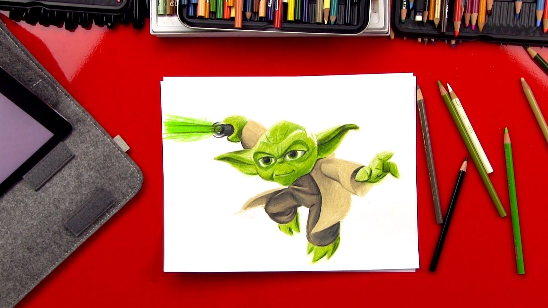 How To Draw Yoda Advance Sketching Art For Kids Hub